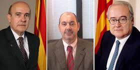 Boi Ruiz (Conseller de Salut), Josep Maria Padrosa (Director del CatSalut) y Josep Prat Domènech (ex director del ICS)