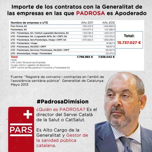 Importe de los contratos de la Generalitat con las empresas de las que Padrosa es apoderado