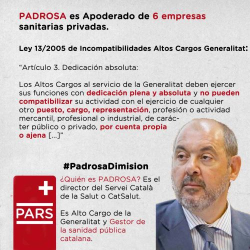 Ley Incompatibilidades Altos Cargos Padrosa Generalitat